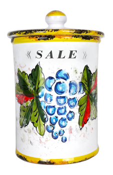 pottery salt jar italian ceramic