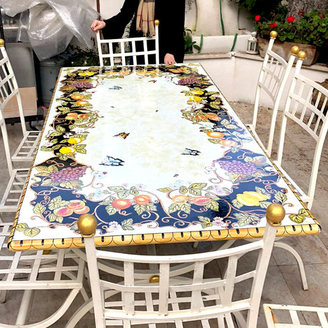Mod ceramics garden tables | Italian Tables Of Ceramics