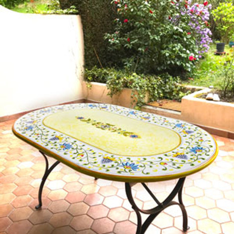 Ceramic table shipped to Switzerland by Mod Ceramics