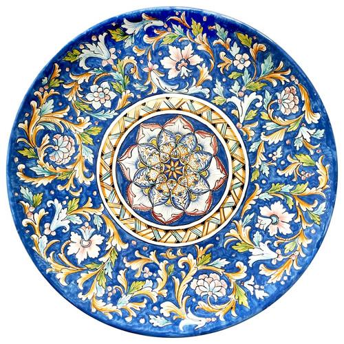Italian ceramic Artistic plate hand painted