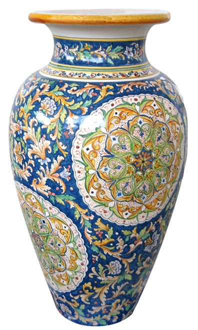 Italian pottery deruta big vase by MOD