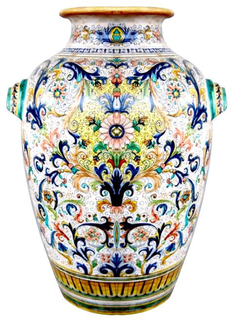 Big Vase Ricco Deruta and Volute