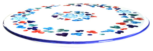 "Light Blue ""Arabesco"" pizza/appetizer dish"