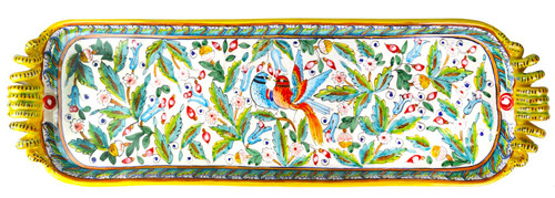 Italian ceramic Tray Love Birds