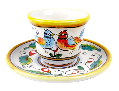 Coffe cup love birds