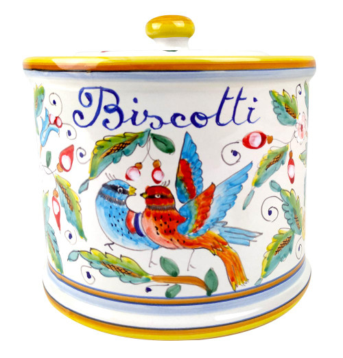 Love birds cookie jar decoration made in Italy by mod
