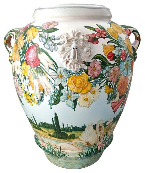 Deruta ceramics big vase