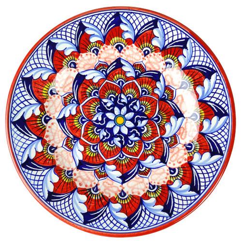Peacock Rosso Salad/Dessert Plate