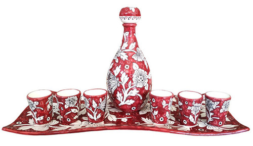 Limoncello Set Ceramic hand painted