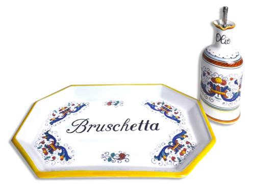 Deruta Tray with oil bottle Ricco Deruta