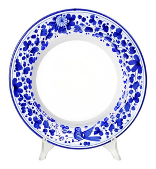 painted ceramic plates arabesco blu pasta/soup