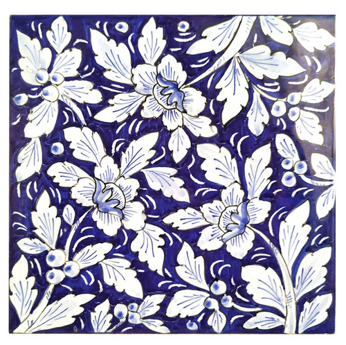 Pottery tiles Floreale 7,8 x 7, 8 Inches