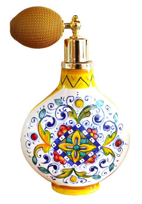 Italian pottery perfume bottle 2