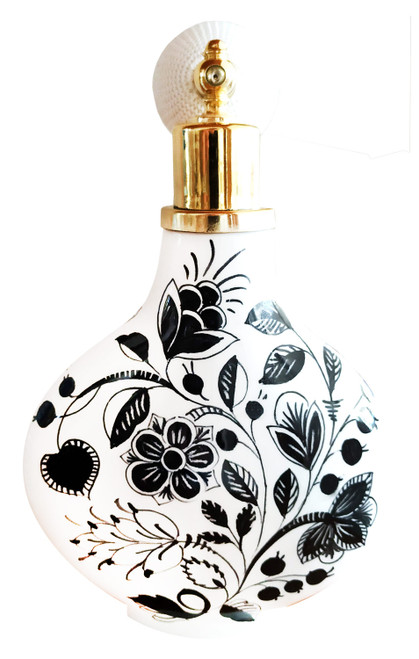Parfume bottle of ceramic black and white