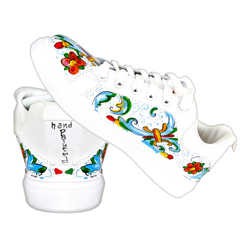 Ricco Deruta Hand painted shoes mod design