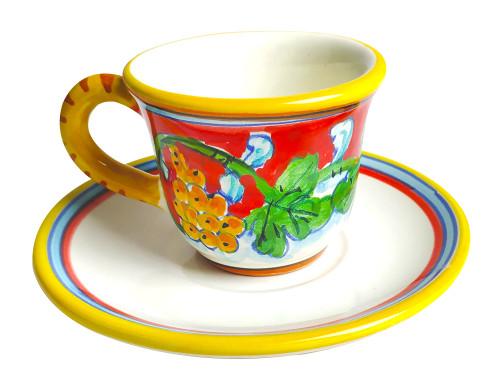 Espresso coffe Cup Corallo Rosso