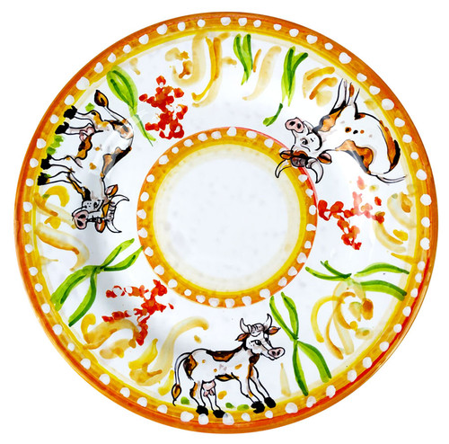 Ceramic Flat plate harald's animals cow