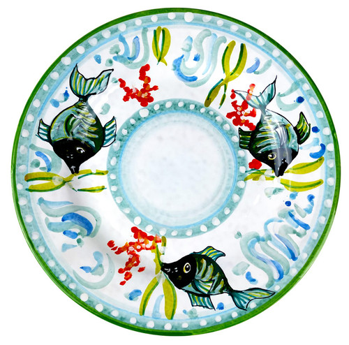 Pottery tableware fish decoration