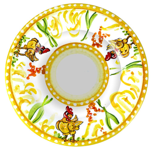 Tableware handmade pasta dish with chicken