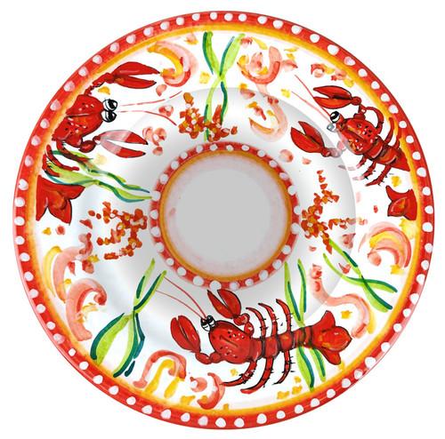 Italian ceramics pasta plate Lobster