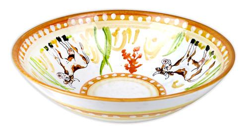 Deruta ceramics bowl with cow painted