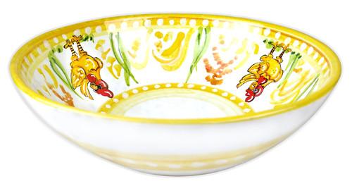Deruta bowl tableware with chicken decoration