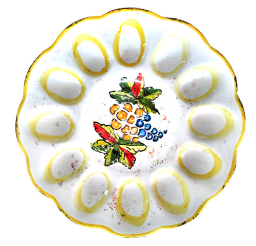 Italian ceramics egg tray