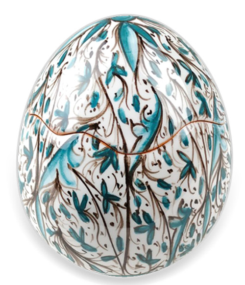 Ceramic Easter Eggs green