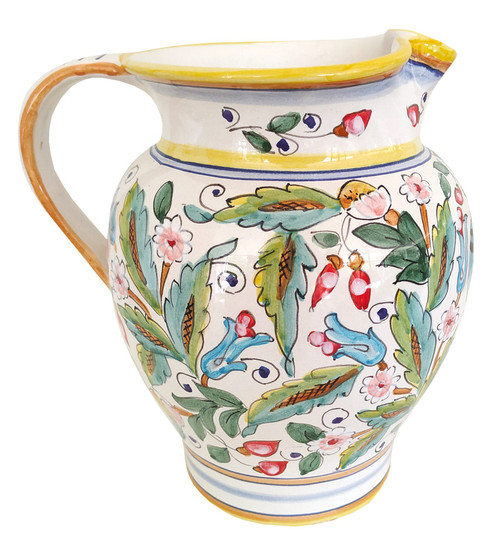 Pottery Pitcher Love Bird