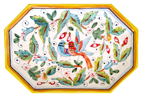 Octagonal Tray Love birds