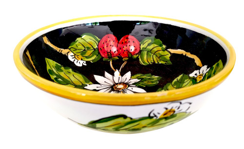 Italian pottery cereal bowl with melograno