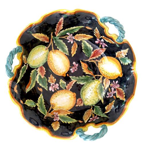 Deruta ceramic fruit bowl