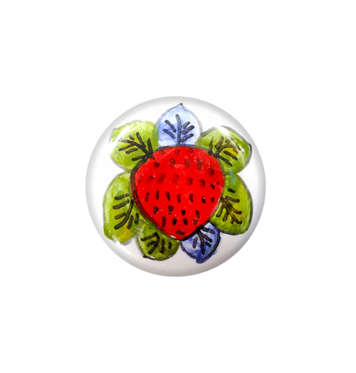 Deruta ceramics knob strawberry