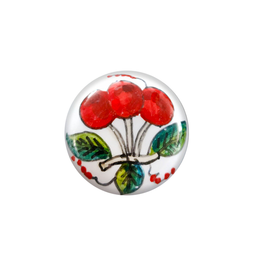 Deruta ceramic knob cherries