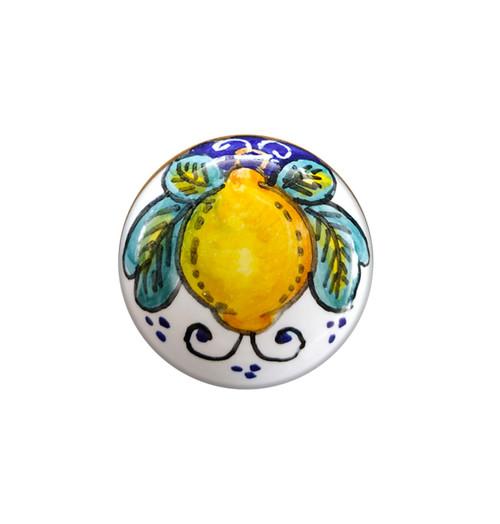 Alcantara knob hand painted from Deruta
