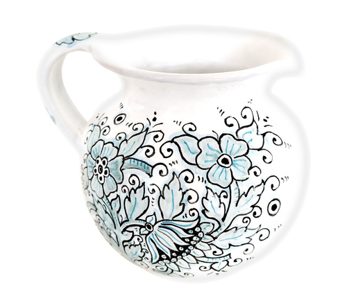 Deruta ceramics pottery pitcher dew collection