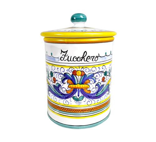 "Deruta pottery jar sugar ""Ricco Deruta"""