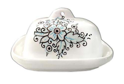Deruta pottery butterdish dew