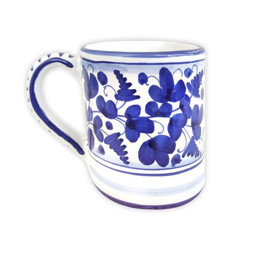 Deruta pottery Mug Arabesco Blu