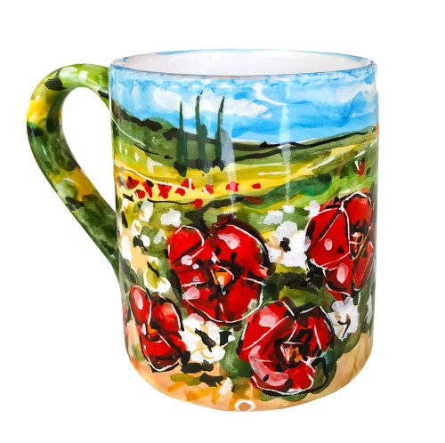 Deruta Mug Umbria hand painted pottery
