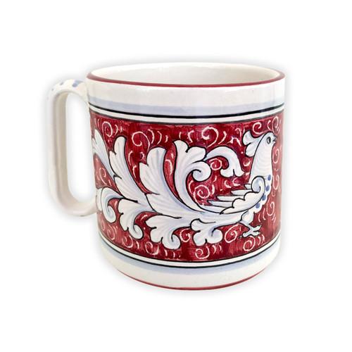Deruta mug La colomba rosso