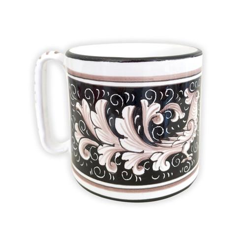 Deruta mug La colomba Nero