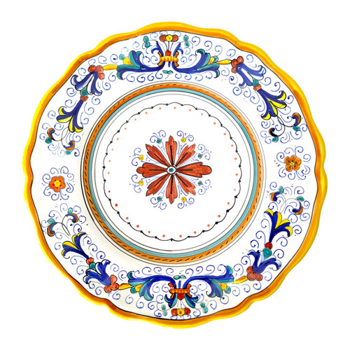 Ricco Deruta Dinner plate by mod deruta Italy