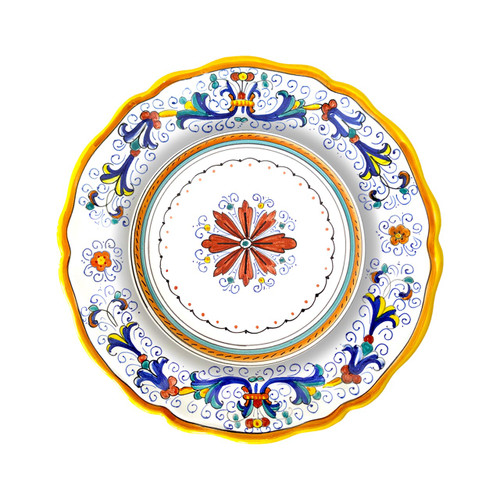 Pasta/soup plate  Ricco deruta decoration for tableware