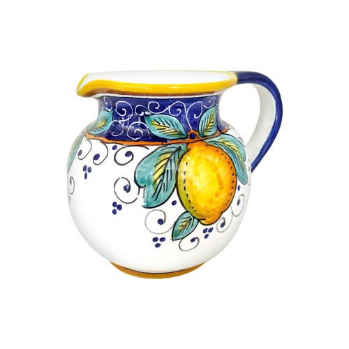 Low pitcher Alcantara ceramics