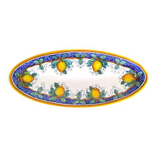 Oval tray alcantara 21 inches