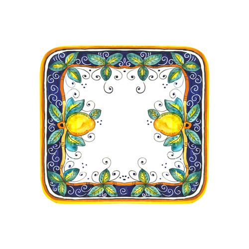 Square plate 10 In Alcantara