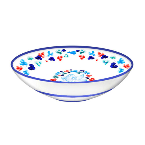Serving bowl 14 inches light blue Arabesco