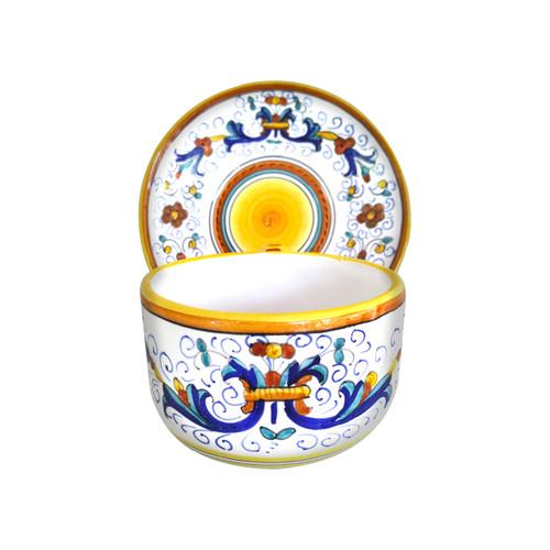 Deruta ceramic milk cup hand painted