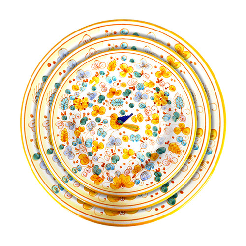 Deruta plates of tableware Arabesco Yellow Decoration